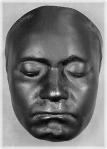 Black Beethoven death mask
