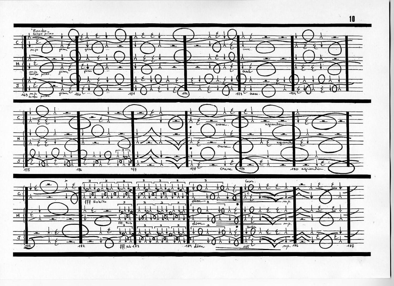Thierry De Mey Table music score