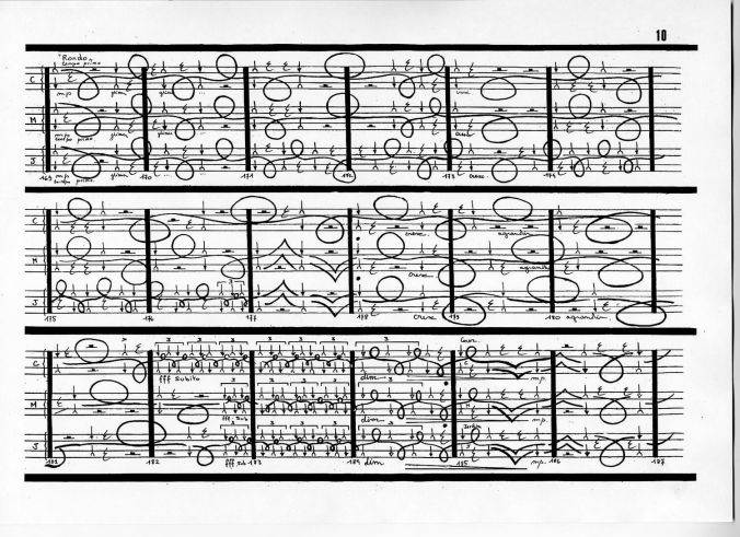Thierry De Mey Table music score