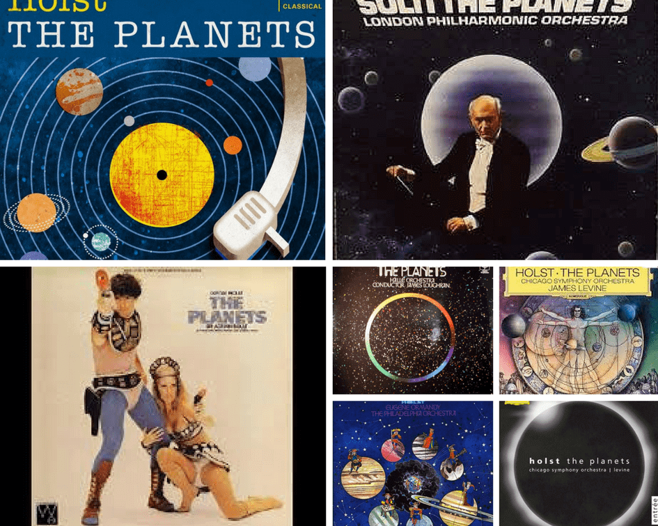 The Planets record sleeves