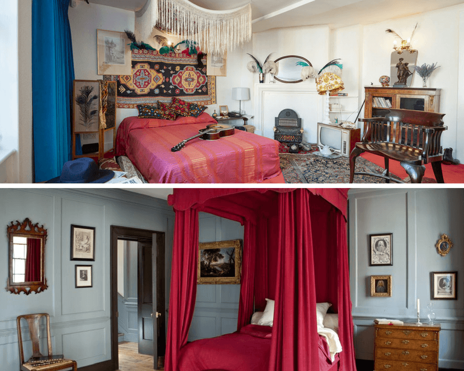 Handel and Hendrix museum bedrooms