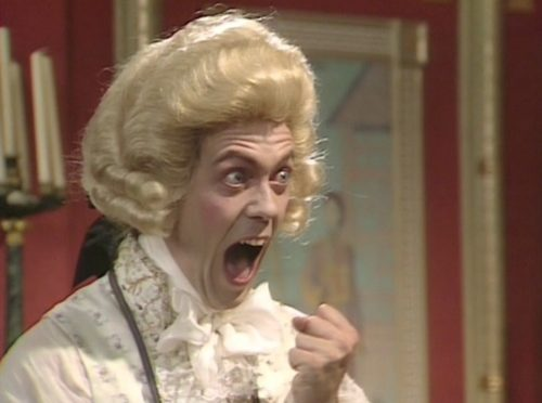 Hanoverian Prince Regent from Blackadder