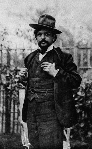 Claude Debussy with a hat