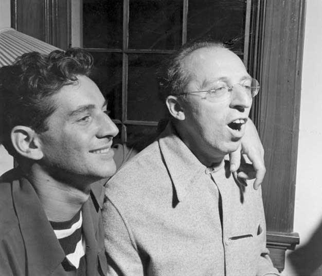 Leonard Bernstein and Aaron Copland